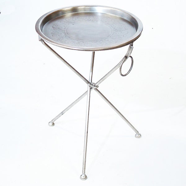 Handmade Collapsible Cocktail Tray Table (India)