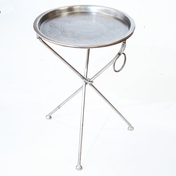 CG Sparks Handmade Collapsible Cocktail Tray Table (India)