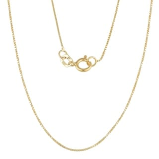 Fremada 10k Yellow Gold 0.6-mm Box Chain (16-24 inches)