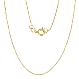 Fremada 10k Yellow Gold 0.6-mm Box Chain (16-24 inches) (Option: 24 Inch)|https://ak1.ostkcdn.com/images/products/3261756/P11367938.jpg?impolicy=medium