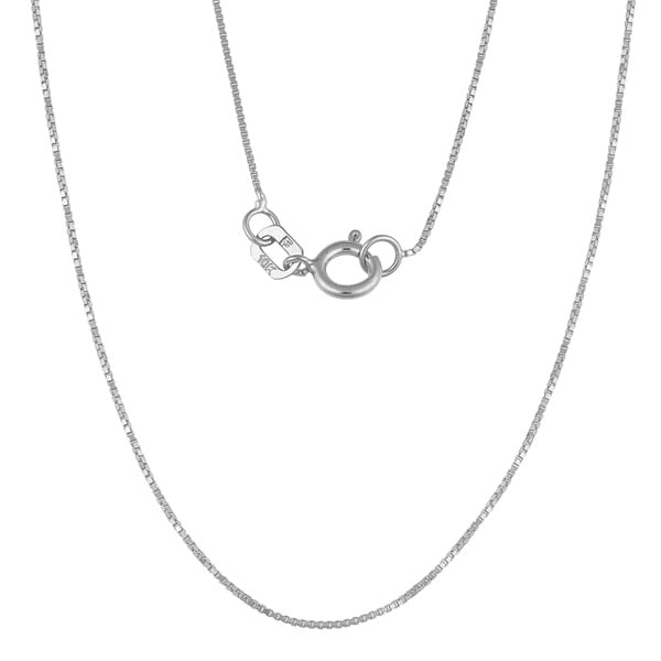 "Fremada 10k White Gold 0.6-mm Box Chain (16""-24"")"
