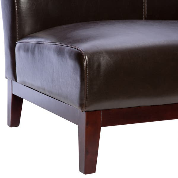 Awesome Shop Cole Dark Brown Leather Loveseat Free Shipping Today Pdpeps Interior Chair Design Pdpepsorg