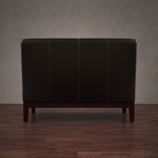 Awe Inspiring Shop Cole Dark Brown Leather Loveseat Free Shipping Today Pdpeps Interior Chair Design Pdpepsorg