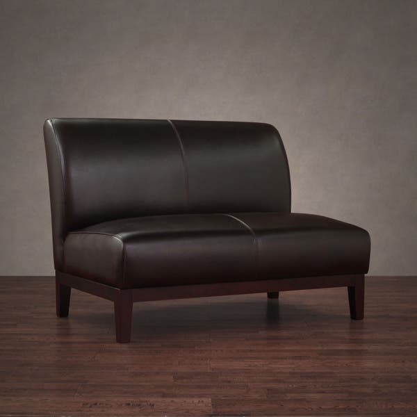 Enjoyable Shop Cole Dark Brown Leather Loveseat Free Shipping Today Pdpeps Interior Chair Design Pdpepsorg