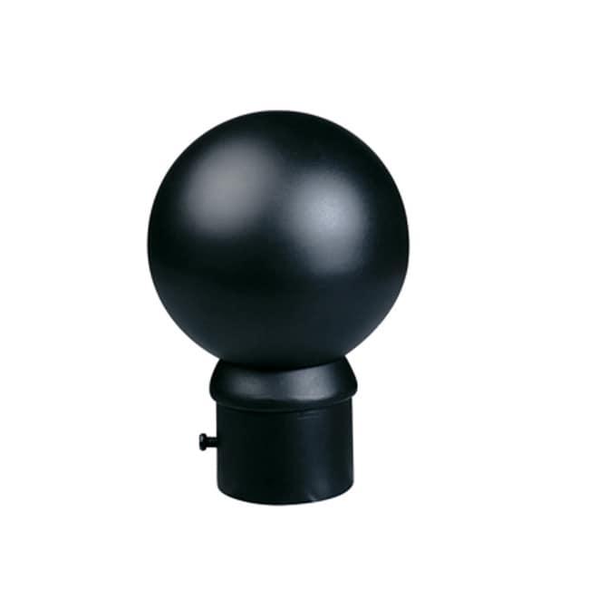 Black 8-foot Iron Drapery Rod with Ball Finials