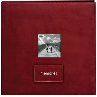 Memories Raspberry Faux Suede 12x12 Album with 40 Bonus Pages