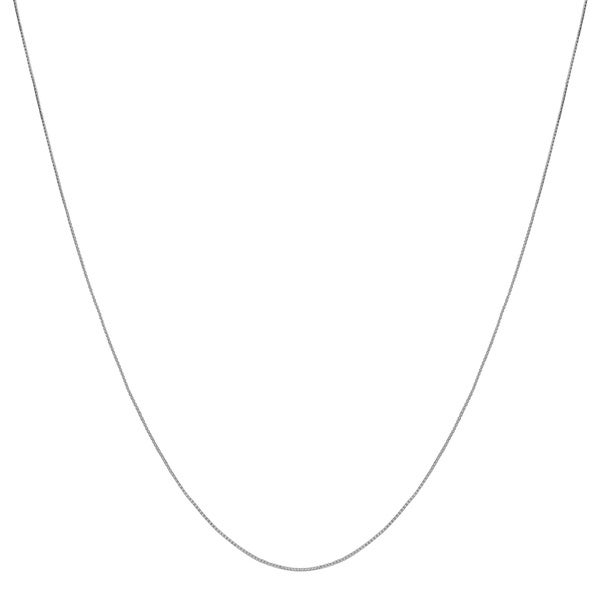Fremada 10k White Gold Box Chain (24-inch)