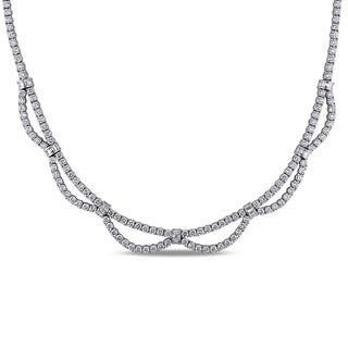 Miadora Signature Collection 18k White Gold 16 1/5ct TDW Diamond Necklace