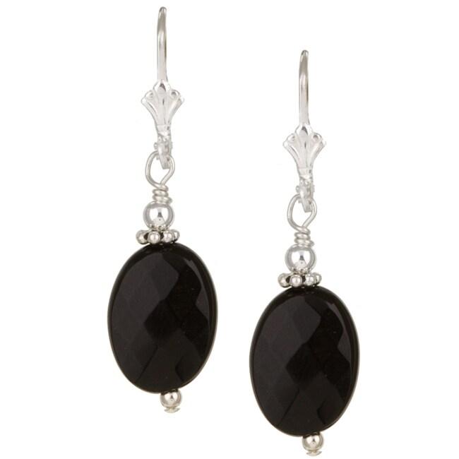 Lola's Jewelry Sterling Silver Black Onyx Drop Earrings
