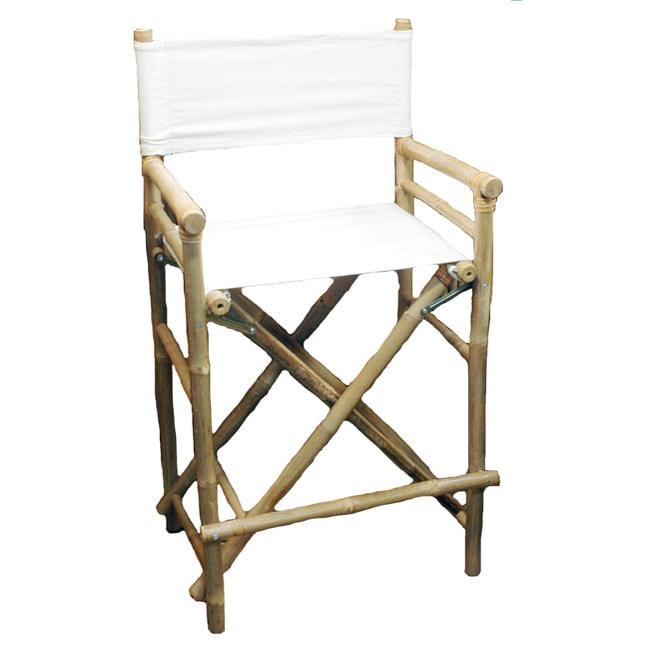 Bamboo 2-piece Bar-height Director Chairs (Vietnam)