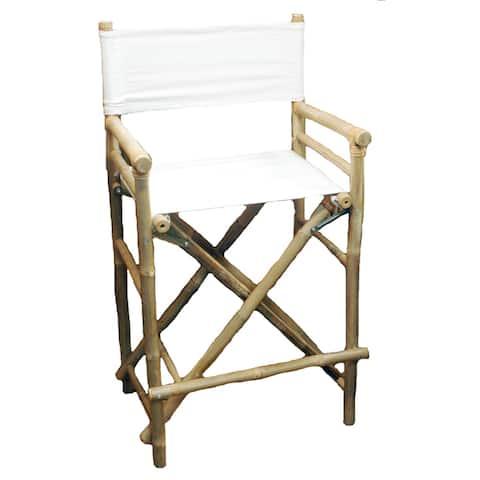 Handmade Bamboo 2-piece Bar-height Director Chairs (Vietnam)