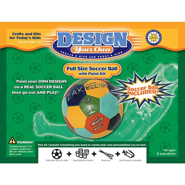 Design Your Own Soccer Ball Paint Kit