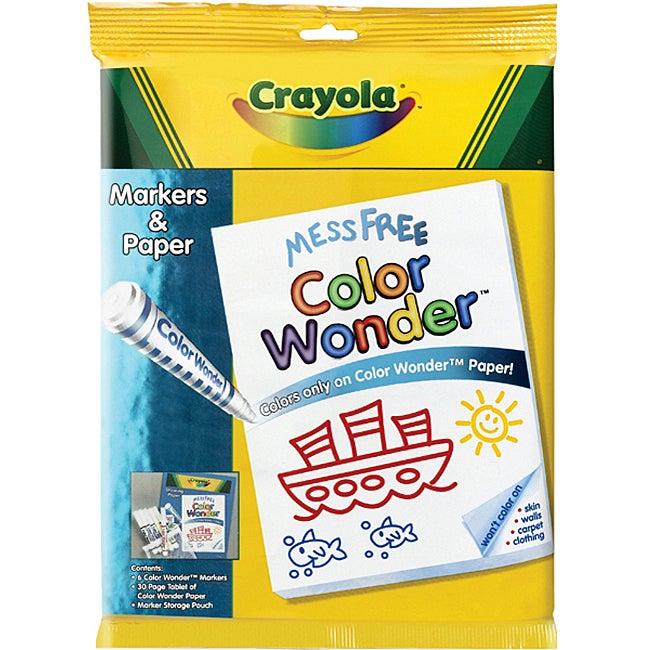 Crayola Color Wonder Marker and Paper Set