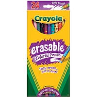 Crayola 24-color Erasable Colored Pencils (for Ages Six and Up)