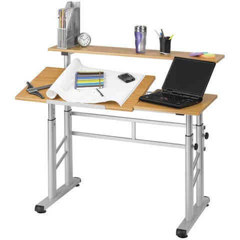 Safco Height Adjustable Split Level Office Desk/ Drafting Table