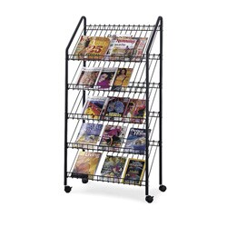 Safco Mobile Literature Rack