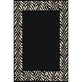 Zebra Black/ IvoryTransitional Rug (5'3 x 7'3)