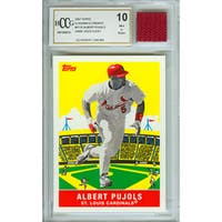 Albert Pujols Mint 10 Card and Game Used Cleat