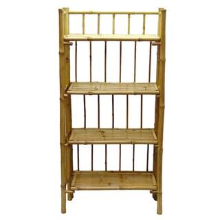 Handmade Bamboo 4-tier Folding Bookcase (Vietnam)