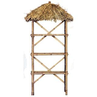 Handmade Bamboo 3-tier Thatched Shelf (Vietnam)