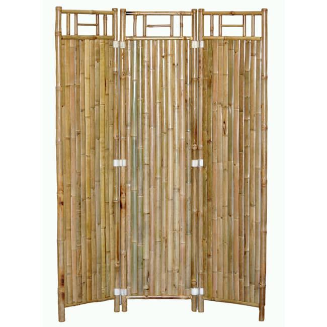 Handmade 3-panel Bamboo Screen (Vietnam)