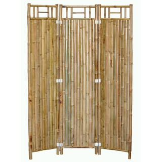 Handmade 3-panel Bamboo Screen (Vietnam)