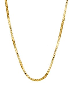 Sterling Essentials 14K Gold over Silver 20-inch Box Chain (1 mm)