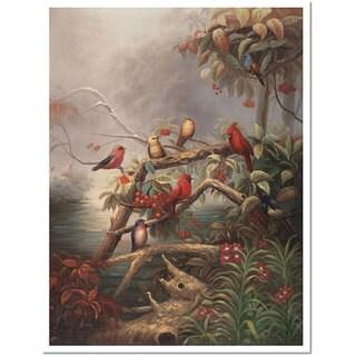 Joval 'Birds' Framed Canvas Art