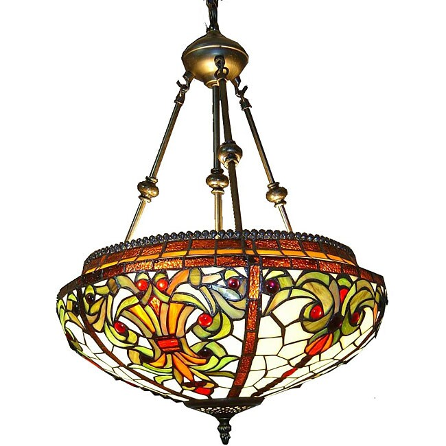 tiffany style classic hanging lamp free shipping today overstock. Black Bedroom Furniture Sets. Home Design Ideas