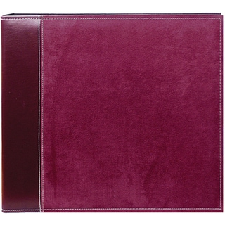 Pioneer Burgundy Faux Suede 12x12 Memory Book Binder with 40 Bonus Pages