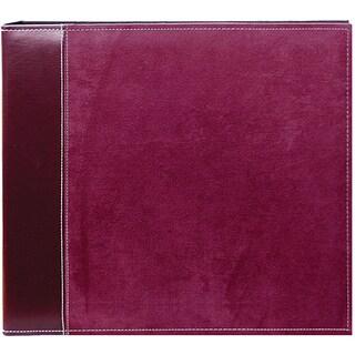 Pioneer Burgundy Faux Suede 12x12 Memory Book Binder with 40 Bonus Pages