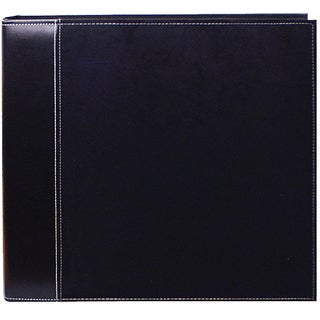 Pioneer Black Faux Suede 12x12 Memory Book Binder with 40 Bonus Pages