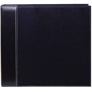 Pioneer Black Faux Suede 12x12 Memory Book Binder with 40 Bonus Pages