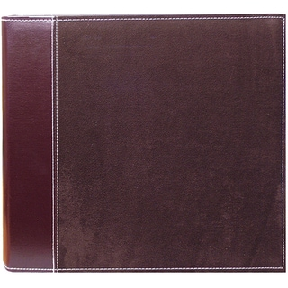 Pioneer Brown Faux Suede 12x12 Memory Book Binder with 40 Bonus Pages