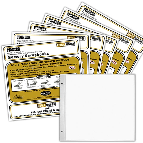 Pioneer Memory Book 8x8 Refill Pages
