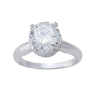 The Simon Frank Collection 14k White Gold Overlay CZ Ring