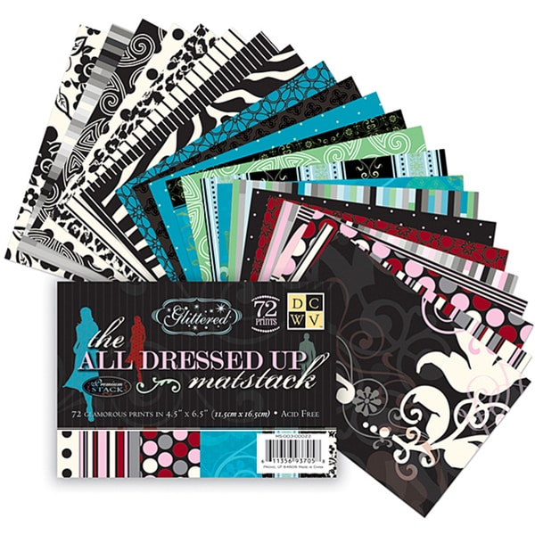 All Dressed Up Matstack Paper with Glitter (Pack of 72)