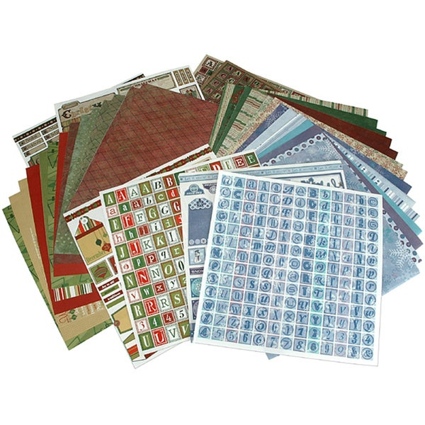 Hot Off The Press Christmas Paper and Accent Kit