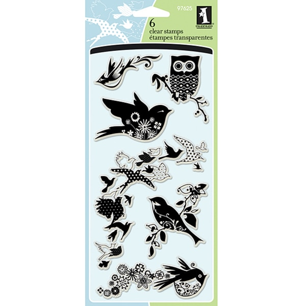 Inkadinkado 'Birds Galore' Clear Stamps. Opens flyout.