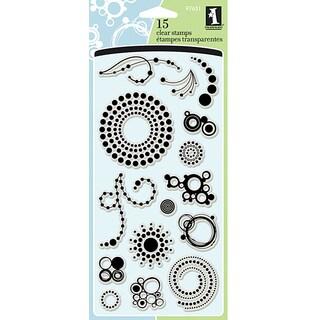 Inkadinkado Circle and Dots Clear Stamps