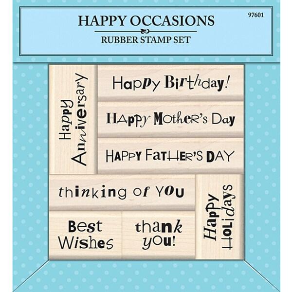 Inkadinkado Happy Occasions Rubber Stamp Set