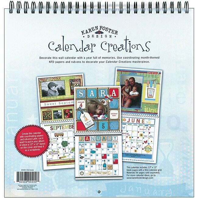 Brother Blank Wall Calendar Scrapbook - 12x12