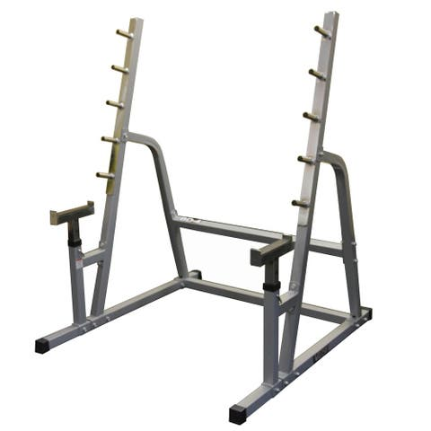 Valor Fitness BD-4 Safety Squat / Bench Combo Rack - Silver
