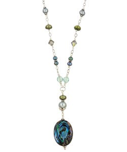 Charming Life Handmade Silver Paua Abalone Shell Necklace