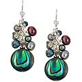 Lola's Jewelry Sterling Silver Paua Abalone Shell Fringe Earrings
