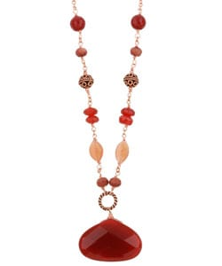 Charming Life Copper Carnelian and Gemstone Necklace