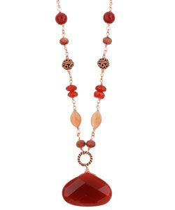 Lola's Jewelry Copper Carnelian and Gemstone Necklace