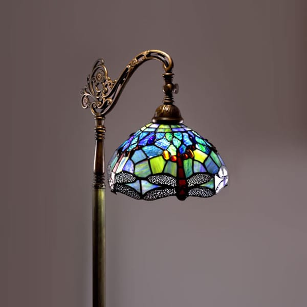 Shop tiffany style dragonfly floor lamp free shipping today tiffany style dragonfly floor lamp aloadofball Image collections