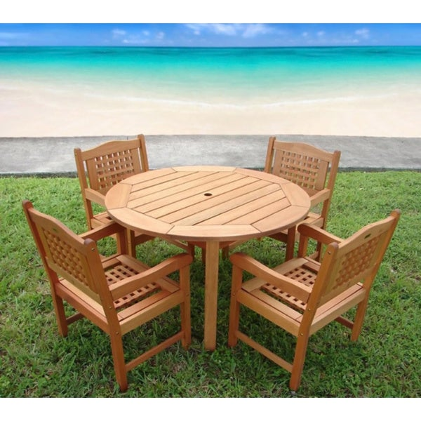 Amazonia Miramar 5 Piece Wood Patio Set