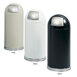 Safco Dome Top Receptacle with Push Door